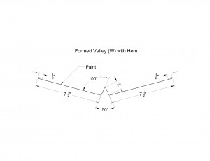 Formed Valley (W) with Hem Shop Drawing