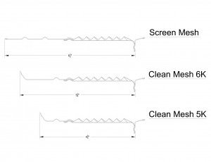 Screen-Clean Mesh Shop Drawing